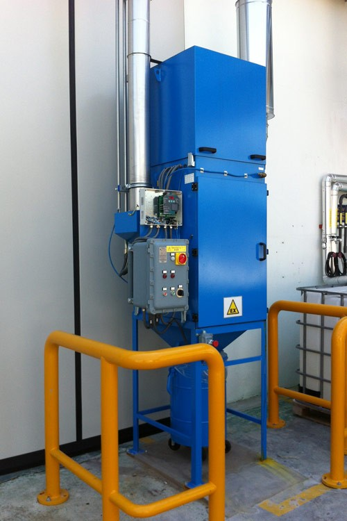centralina controllo impianto aspirazione industriale atex