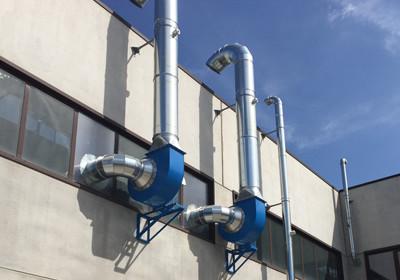 progetto impianto aspirazione industriale
